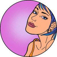 Beautiful woman pop art portrait