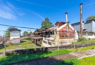 Panama Boquete ancient coffee factory