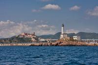 Der Leuchtturm von Botafoch auf Ibiza