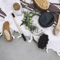 Arrangement of organic cosmetic for skin care