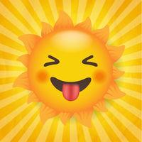 Yellow Sun With Isolated Sunburst Background