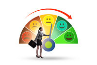 Concept of customer satisfaction with meter