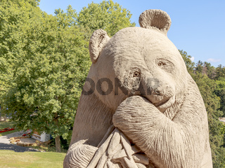 Sandkunst im Blühenden Barock, Ludwigsburg, Thema Tiere, Panda