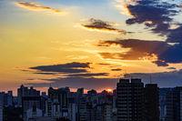 City of Belo Horizonte in Minas Gerais at sunset