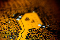 Electronic gold computer circuit blur