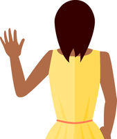 Woman Waving Vector