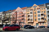 berlin, germany - 04/09/2019 - electric car in charlottenburg