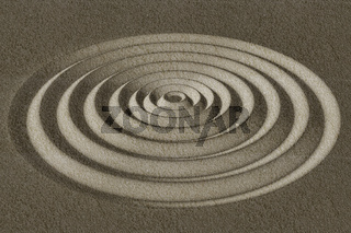Structure of circles, 3D illustration