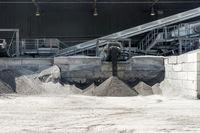 Schlacke aus einem Biomasse Kraftwerk