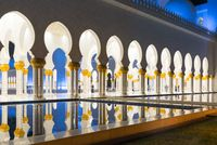 View of the grand Sheikh Zayed mosque at Abu Dhabi, UAE