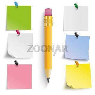 Colored Stickers Pencil