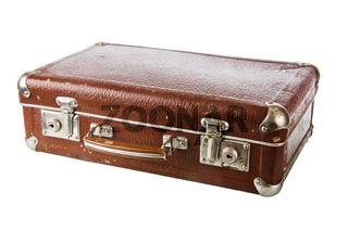 Old cardboard suitcase