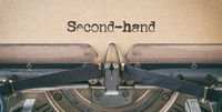 Text written with a vintage typewriter -  Second-hand