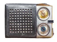 Isolated Vintage Clock Radio