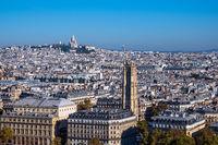 Blick auf die Basilika Sacre-Coeur in Paris, Frankreich