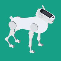 The mechanical robot dog. Vector