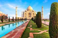 Beautiful Taj Mahal view, Agra, Uttar Pradesh, India