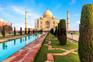 Beautiful Taj Mahal view, Agra, Uttar Pradesh, India