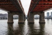 hangang bridge at daytime