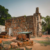 Surviving gate of the A Famosa fort in Malacca, Malaysia