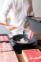 Sukiyaki Cooking