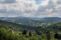 panoramic view of the Cretan landscape.