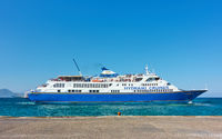 Ferryboat at the port of Aegina