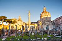 Trajan Forum ruins in Rome