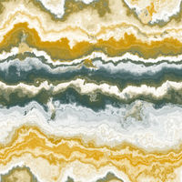 abstract illustration of marble stone in trendy golden fortune and green tidal color. Seamless texture