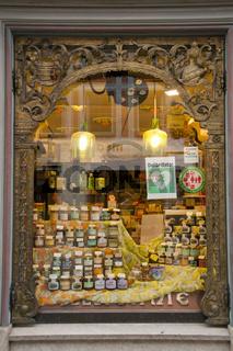 Schaufenster, Alte Apotheke, Füssen, Allgäu, Ostallgäu, Bayern, Europa