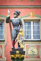 Ritterfigur auf dem Marktplatz der Ortschaft Stein am Rhein