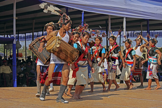 Tutsa sub tribe of Tangsa tribe Performing Traditional Dance at Namdapha Eco Cultural Festival