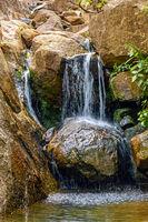 Little waterfall between stones