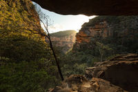 Cave views through the zig zagging mountain gully