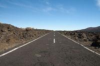 Straße, Teide-Nationalpark, Teneriffa, Kanaren, Spanien, Europa