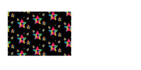 cute seamless pattern of neon stars in black background.