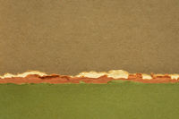 abstract landscape in brown and green pastel tones