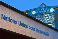 Sitz des Hohen Flüchtlingskommissars der Vereinten Nationen (UNHCR), Genf, Schweiz