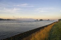 Mist above the river Merwede