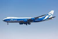 Air Bridge Cargo Boeing 747-8F Flugzeug Flughafen Leipzig Halle