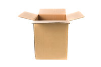 Open cardboard carton box