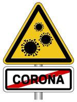 Warnschild Gefahr durch Viren
