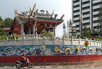 Am chinesischen Tua Pek Kong Tempel, Kuching, Sarawak, Borneo, Malaysia