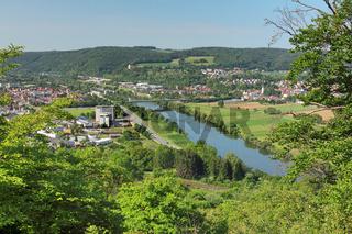 Blick auf die Stadt Mosbach am Neckar
