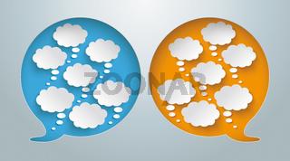 Speech Bubble Hole Thought Bubbles PiAd