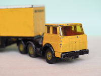 yellow toy lorry