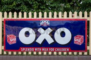 OXO sign at Sheffield Park Station