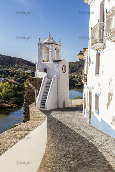 Uhrturm (Torre do Relogio), Mertola, Alentejo, Portugal, clock tower (Torre do Relogio), Mertola, Alentejo, Portugal