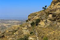 Landschaft im Hochland von Abessinien, Hawzien, Tigray, Äthiopien