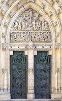 Door of Saint Vitus cathedral in Prague